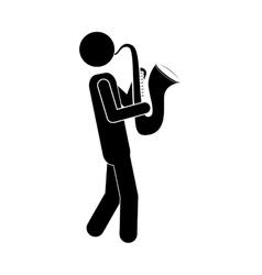 musician man icon vector image