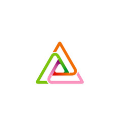 triangle shape connection colored logo vector image