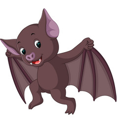 bat cartoon vector image vector image