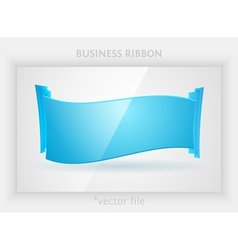Business ribbon vector image vector image