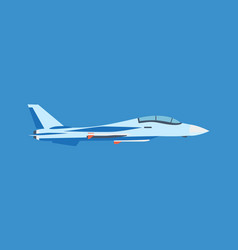 modern milliary air plane flying on blue sky vector image vector image