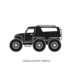 Silhouette of the cross-country vehicle vector image vector image