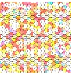 Abstract background with colorful hex polygons vector image