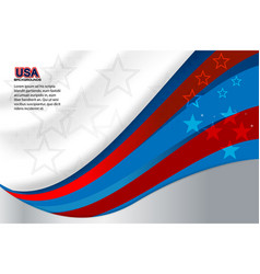 American silver background vector