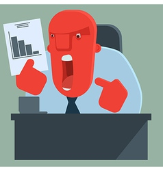 Angry boss is dissatisfied with results vector image