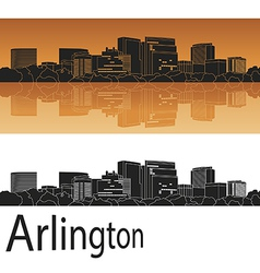 Arlington skyline in orange vector