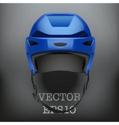 Background of Classic blue Ice Hockey Helmet vector image