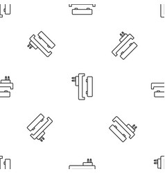 battery charger pattern seamless vector image