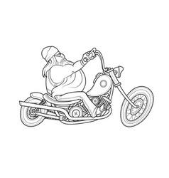 biker ride at motorcycle vector image