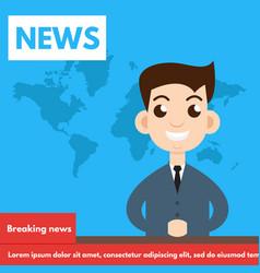Breaking newstv screen layout vector