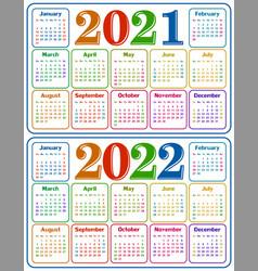 Calendar for 2021-2022 vector