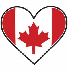 canada heart flag vector image