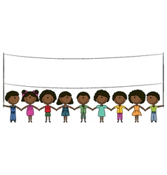 Cheerful happy African-American kids vector image