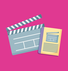 Clapboards director of cinema icon vector