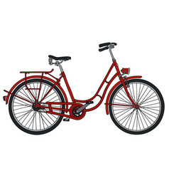 classic red bicycle vector image