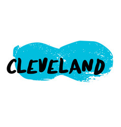 Cleveland sticker stamp vector