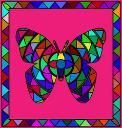Colored image of butterfly vector