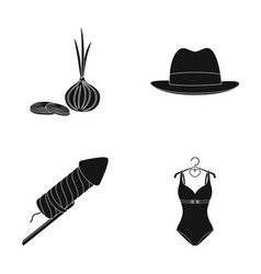 cooking celebration and other web icon in black vector image