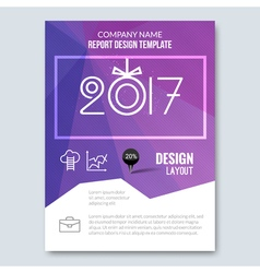 Cover Annual Report 2017 Business Colorful vector image