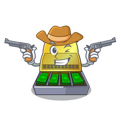 Cowboy electronic cash register isolated on a vector
