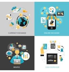 currency exchange design concept vector image