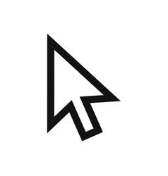 cursor icon mouse pointer click symbol vector image