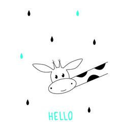 cute cartoon giraffe scandinavian design vector image