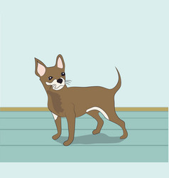 Dog in the room vector