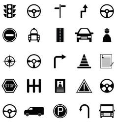 driving school icon set vector image