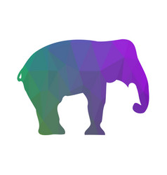 Elephant silhouette abstraction low poly style vector
