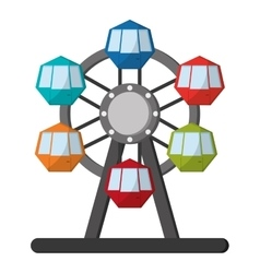 ferris wheel icon icon vector image