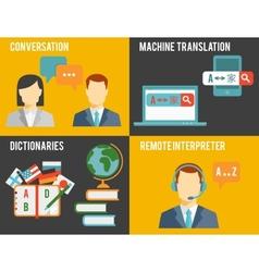 Foreign Language Translation Concept Graphics vector