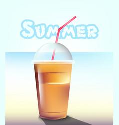 frappe realistic summer sea pastel vector image