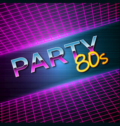 futuristic background 80s style party flyer vector image