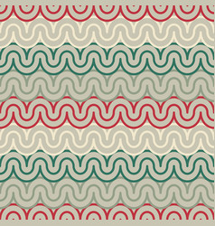 Geometric pattern with abstract waves vector