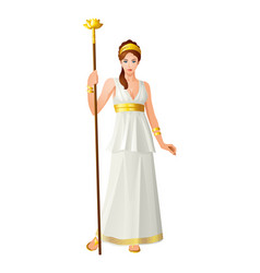 greek gods and goddess hera vector image