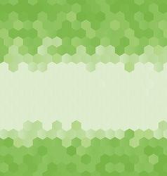 Green abstract geometric rumpled hexagon vector