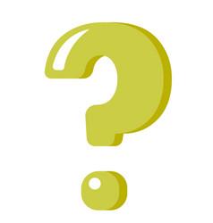 green question mark cartoon vector image