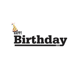 Happy birthday party hat white background i vector