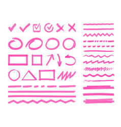 highlight marker design elements vector image