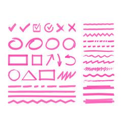 highlight marker design elements vector image