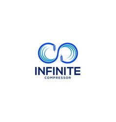 infinite compressor logo vector image
