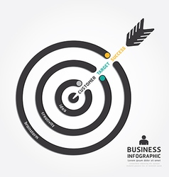 infographics business arrow design customer target vector image