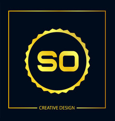 Initial letter so logo template design vector