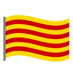Isolated flag of catalonia vector