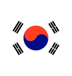 Korea south vector