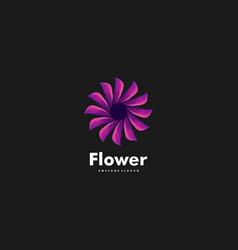 logo flower gradient colorful style vector image