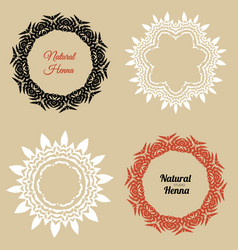 Logo for henna studio vector
