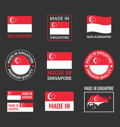 made in singapore labels set republic of vector image