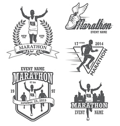 Marathon 1 vector image